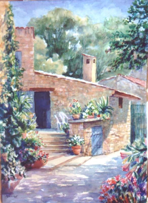Aquarelle paysage provence - Maisons provencales photos ...